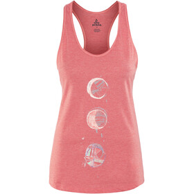 Prana Graphic Tank Women Peach Gerberas